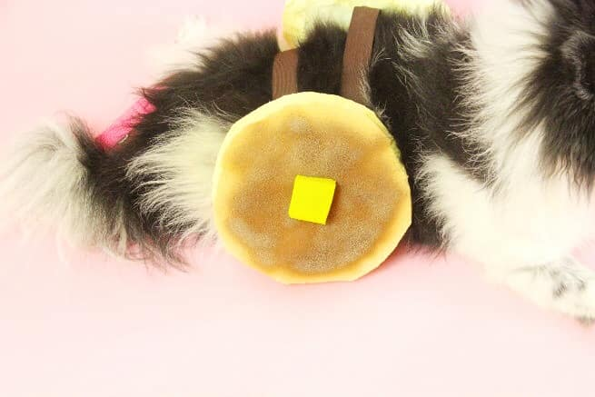 DIY Dog Pancake Halloween Costume-Step-1