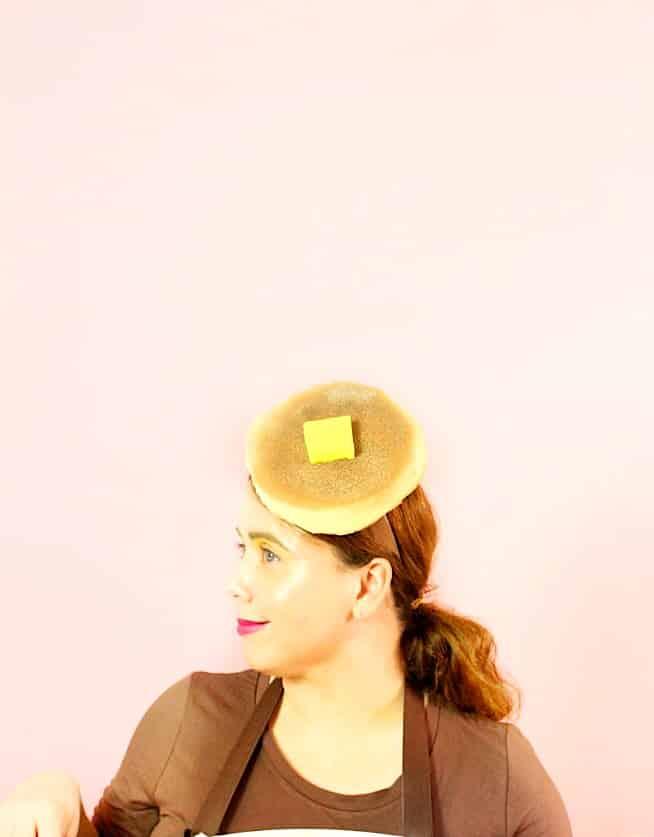 DIY Ladies Pancake Halloween- Costume Headpiece
