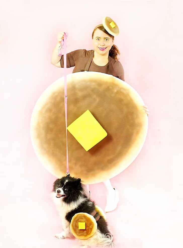 DIY Ladies and Dog Pancake Halloween Costumes