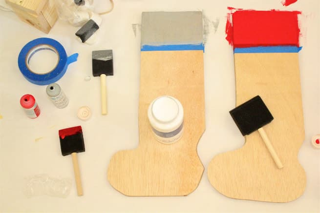 Easy Holiday DIY Wooden Stocking Hanger Step 3