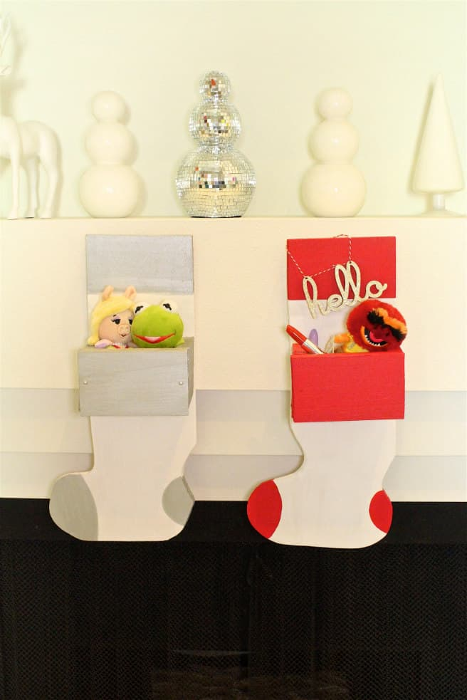 Easy Holiday DIY Wooden Stocking Hanger