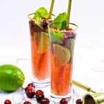 A Virgin Cranberry Mojito For Thanksgiving!