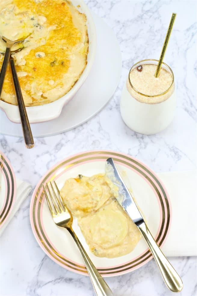 cheesy savory potato casserole recipe and milk