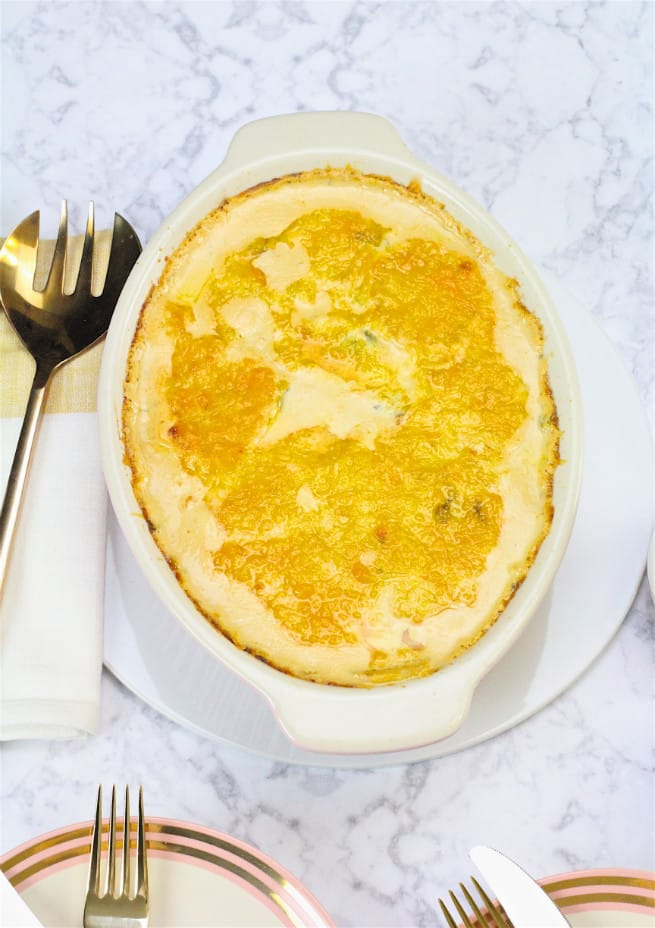 cheesy savory potato casserole recipe