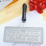 A Must Have: The Keyboard Waffle Iron For The Holidays!