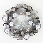 DIY Disco Themed Galvanized Bubble Wreath Advent Calendar!