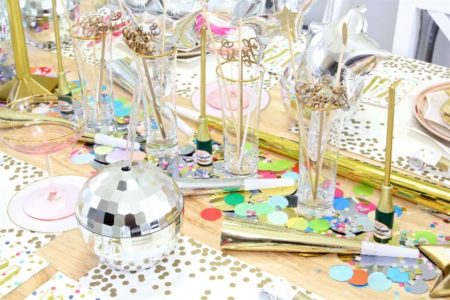 DIY New Years Disco Tablescape