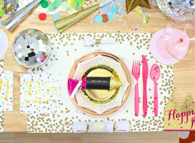 DIY New Years Table setting