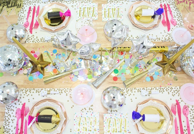 DIY New-Years Tablescape