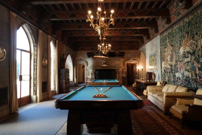Hearst-Castle-pool room