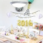 Our Colorful New Years Eve 2016 Tablescape!