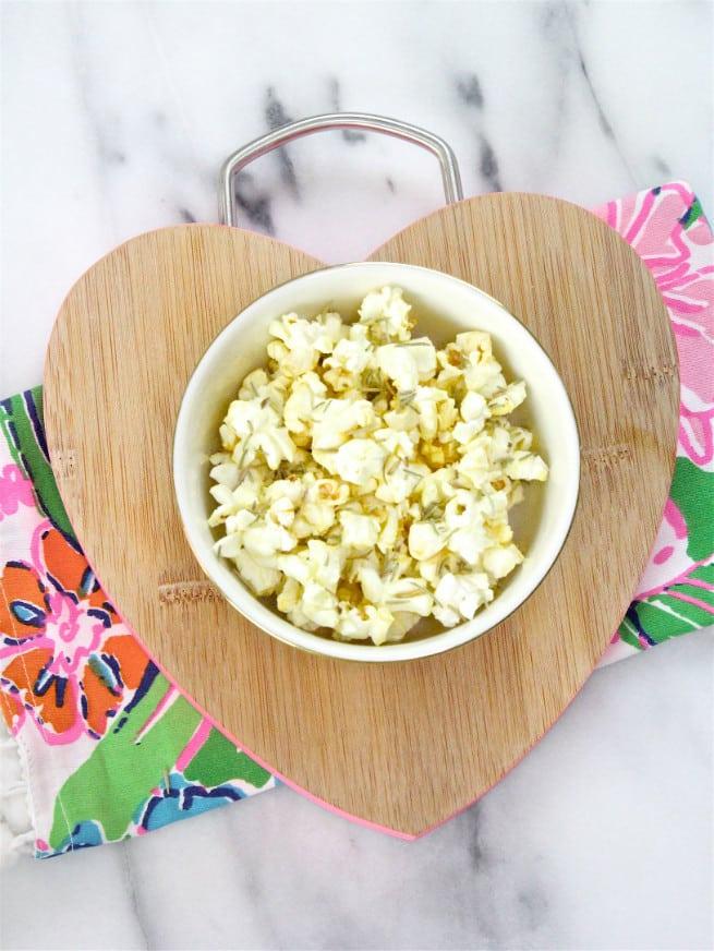 Olive Oil & Rosemary Popcorn Hack