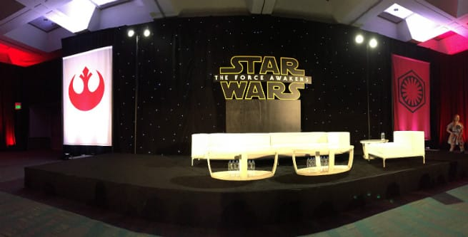 STAR WARS MEDIA DAY STAGE