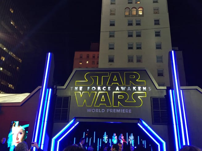 Star Wars The Force Awakens red carpet entrace