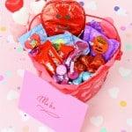 Easy DIY Valentine's Day Candy Basket + Free Printable!