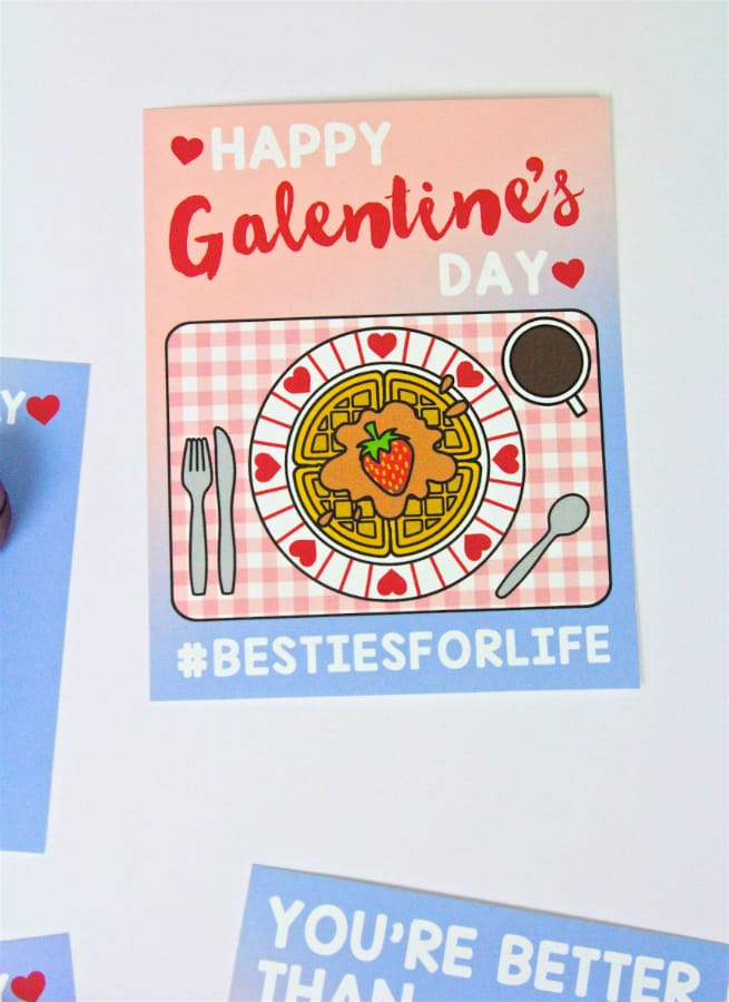 Galentine's Day Card Preview