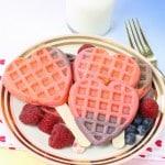 Healthy Color Block Heart Waffles Recipe!