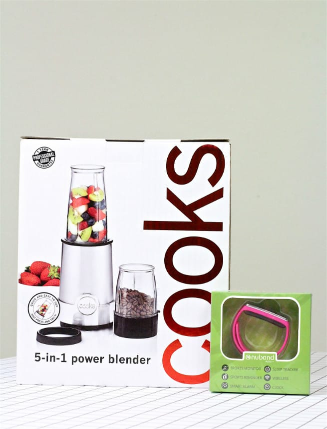 Nuband Womens Pink and the cooks 5-in-1 Metallic Power Blender
