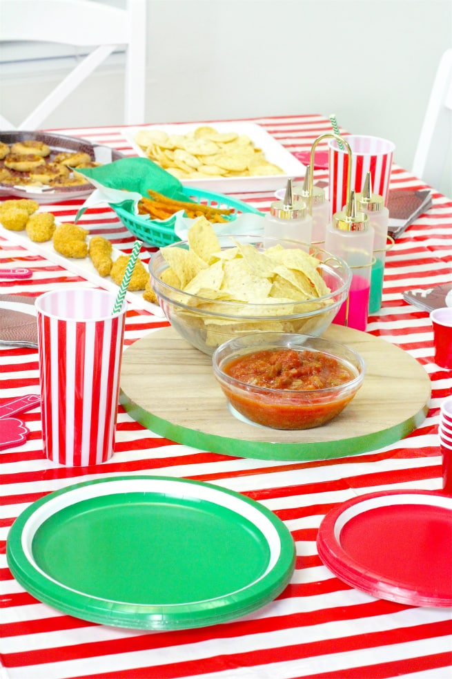 Target Super Bowl Party Essentials Table Spread