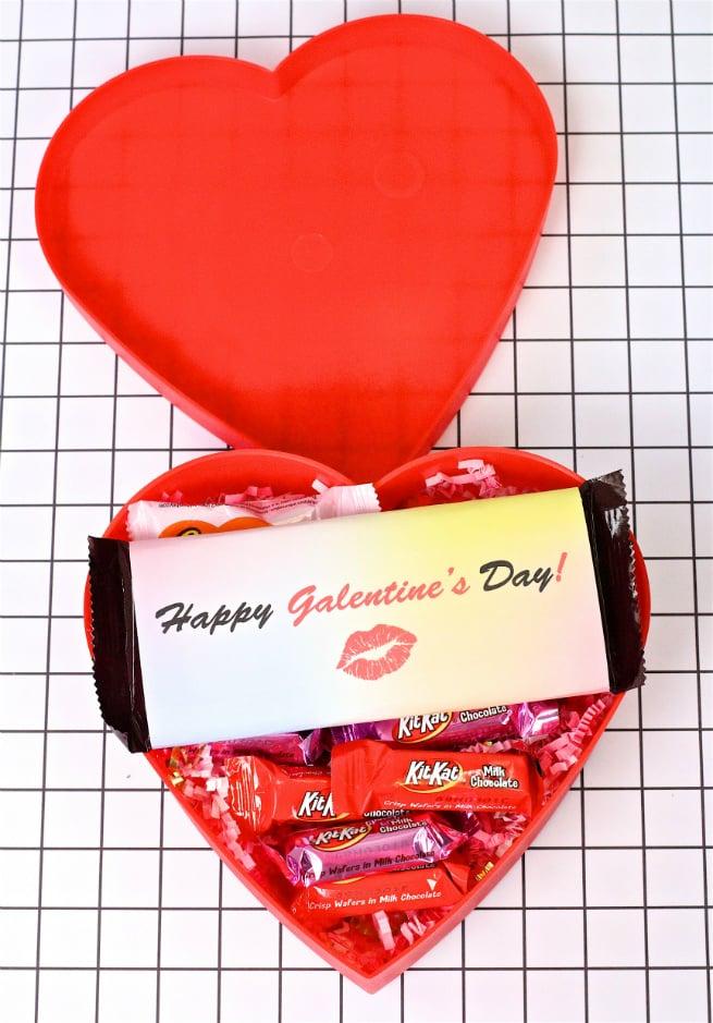 Chocolate Bar In Heart Box