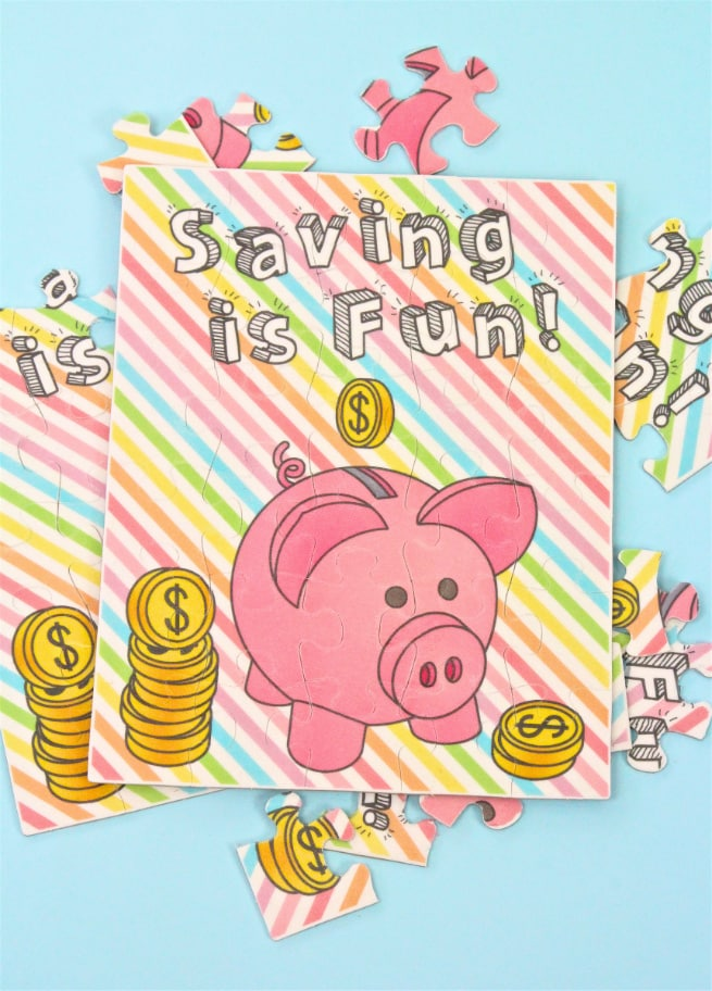 DIY Colorful Learn To Save Puzzle