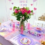 DIY Pantone Inspired Galentine's Day Brunch + Free Printable Place Cards!