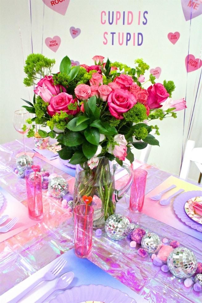 DIY Galentine's Day Brunch Flowers