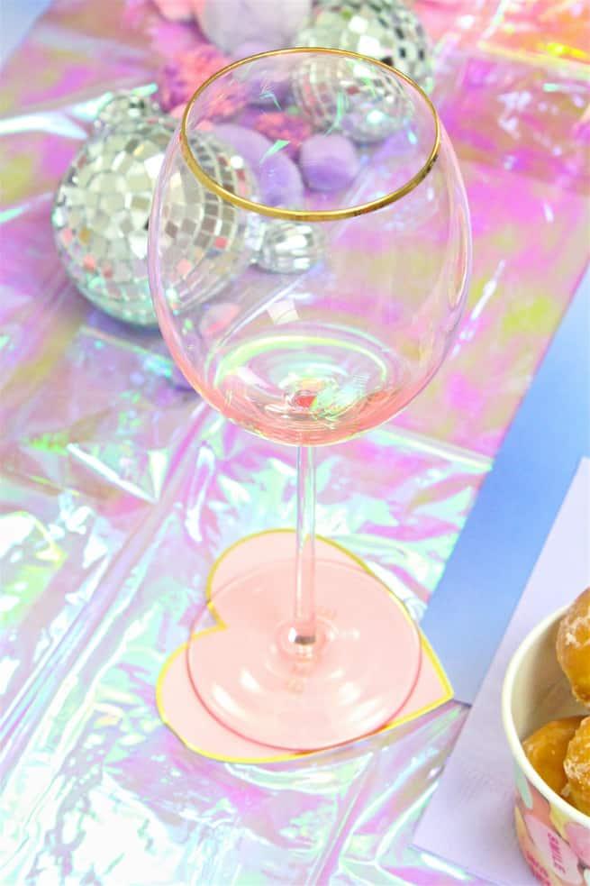 DIY Galentine's Day Brunch Glass