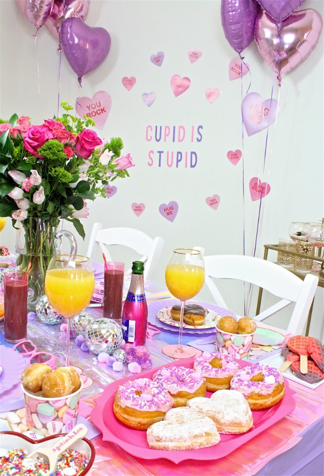 DIY Galentine's Day Brunch Table