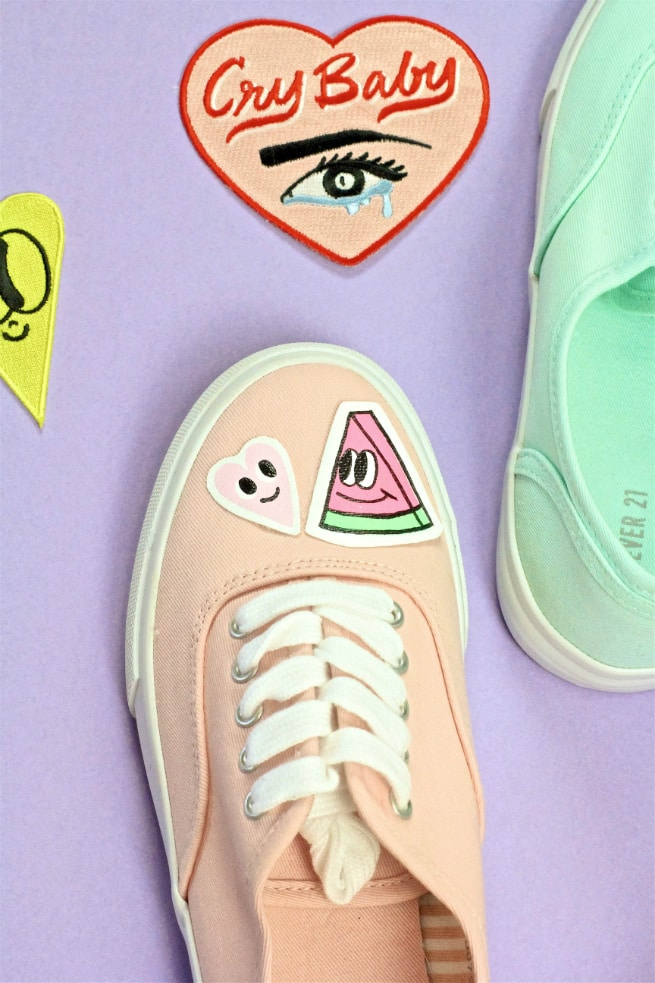 DIY Patch Sneakers Chris Uphues