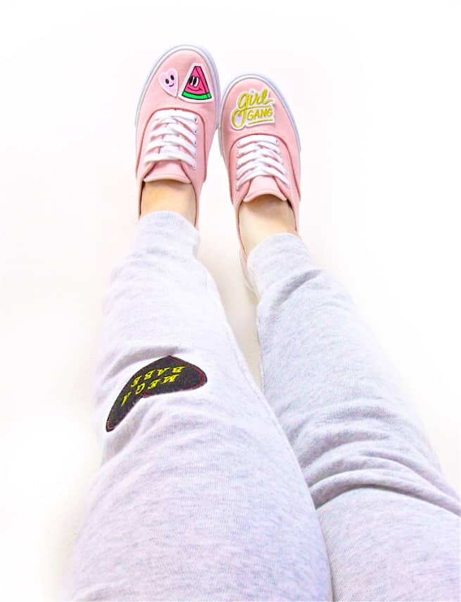 DIY Patch Sneakers GIRL GANG PATCH PANTS-2
