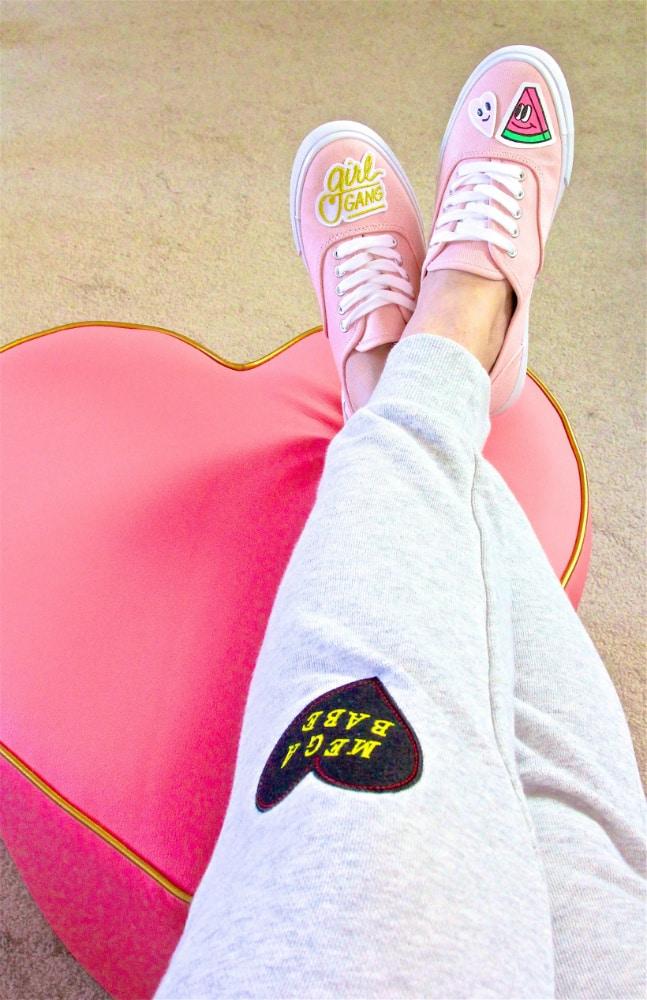 DIY Patch Sneakers GIRL GANG PATCH PANTS