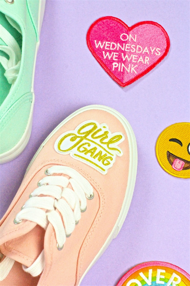 DIY Patch Sneakers Girl Gang