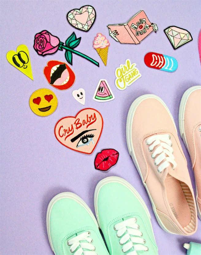 DIY Patch Sneakers Patches-2