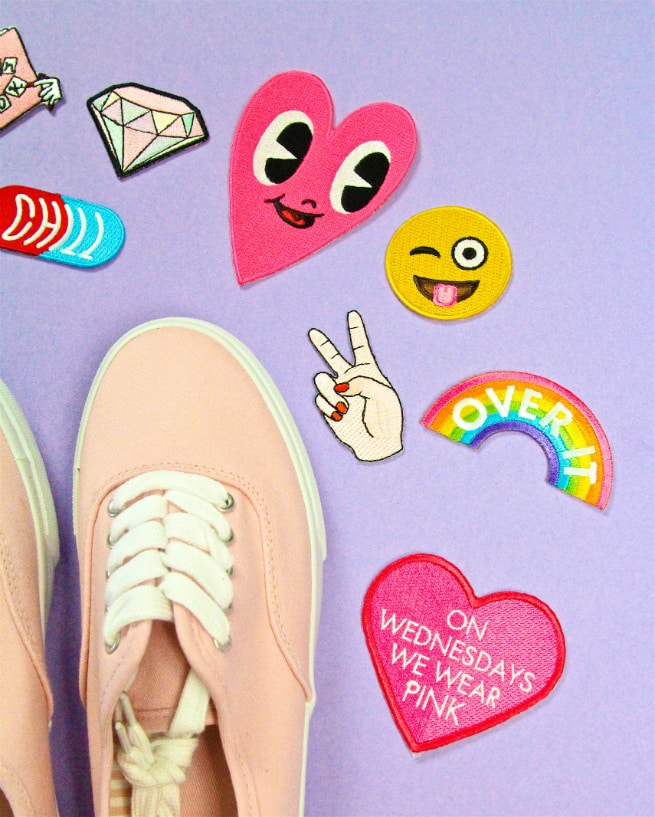 DIY Patch Sneakers Patches