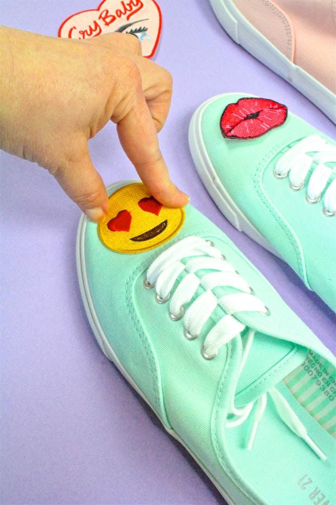 DIY Patch Sneakers Step 2