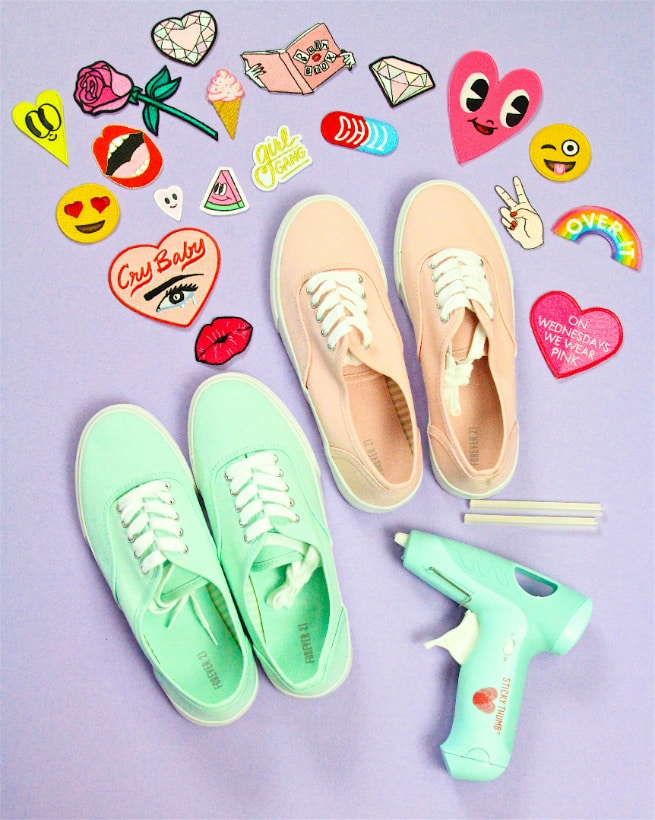 DIY Patch Sneakers Supplies