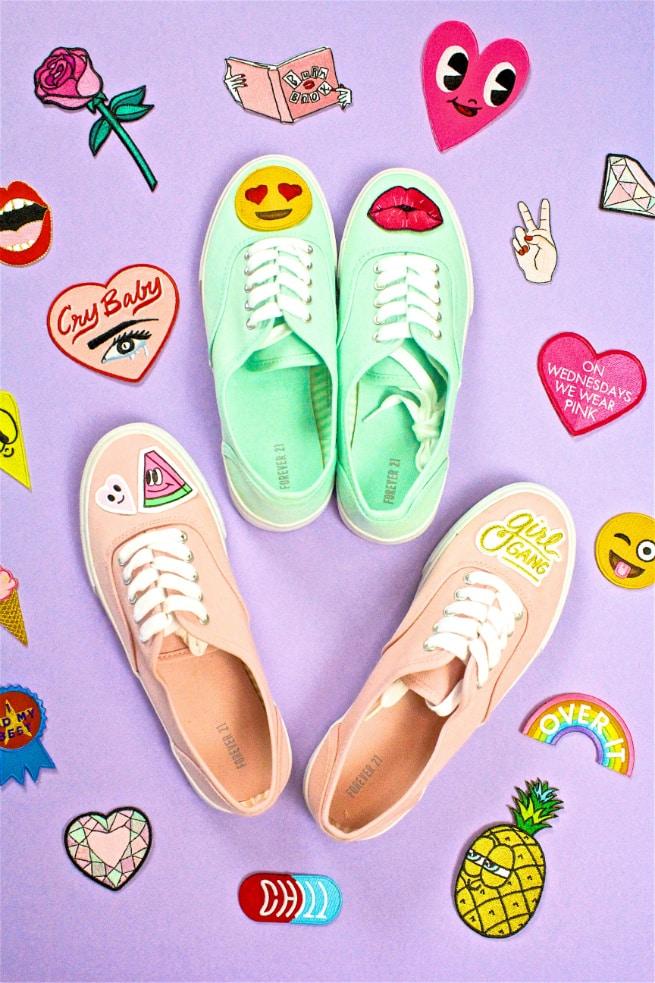 DIY #PatchGame Sneakers