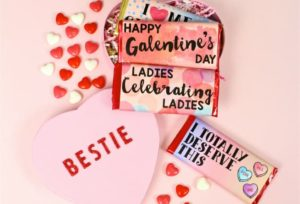 DIY Color Block Galentine's Day Chocolate Bars!