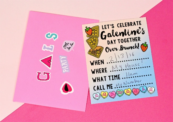 Free Printable Galentine S Day Brunch Invitations Brite And Bubbly
