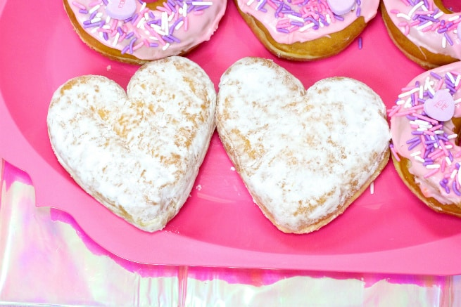 Galentine's Day Brunch Dunkin Donuts Hearts