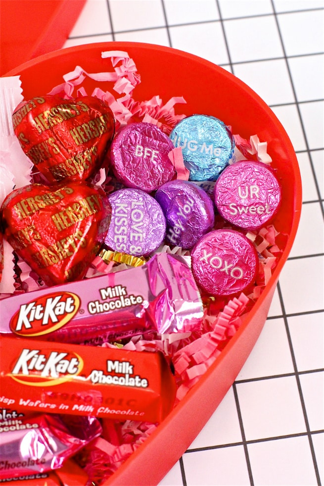 Hershey's Candy in Heart