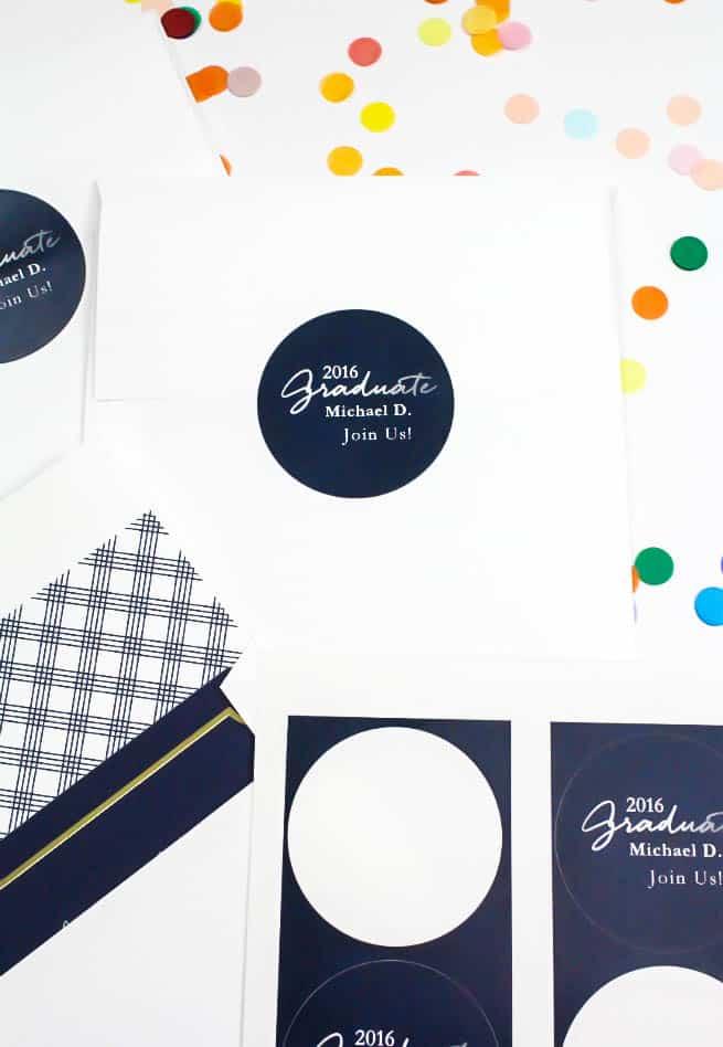 Tiny Prints Graduation Invites Evelope Label