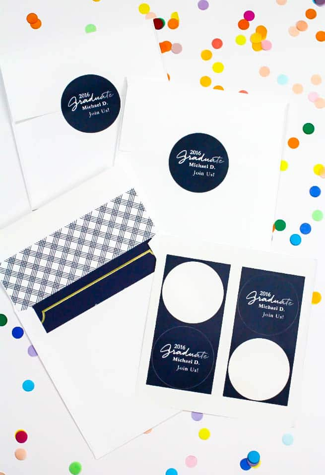 Tiny Prints Graduation Invites Evelope Labels