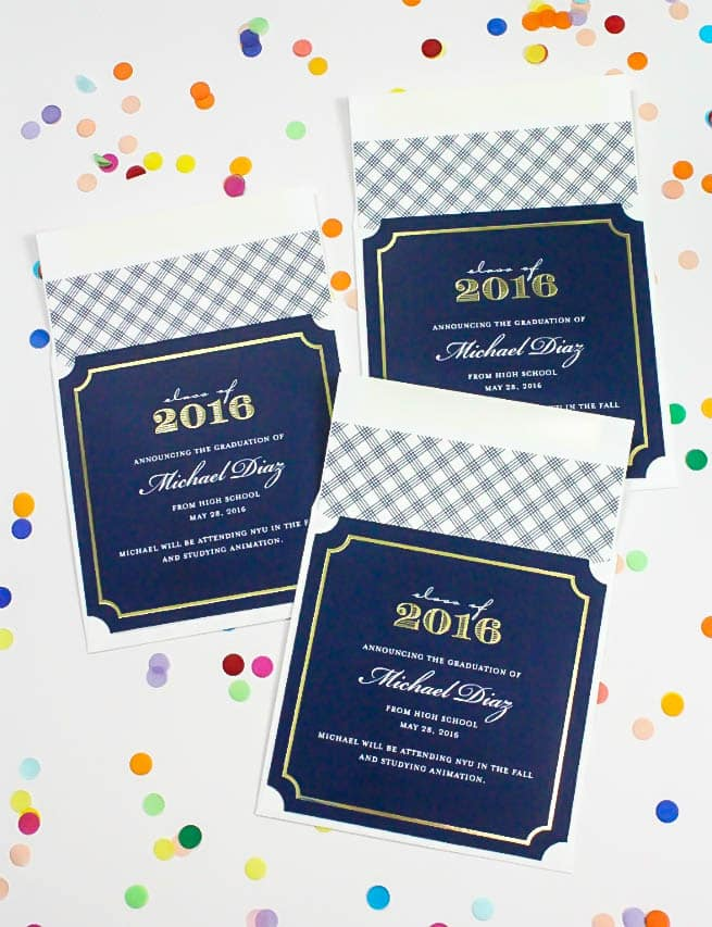 Tiny Prints Graduation Invites Evelope