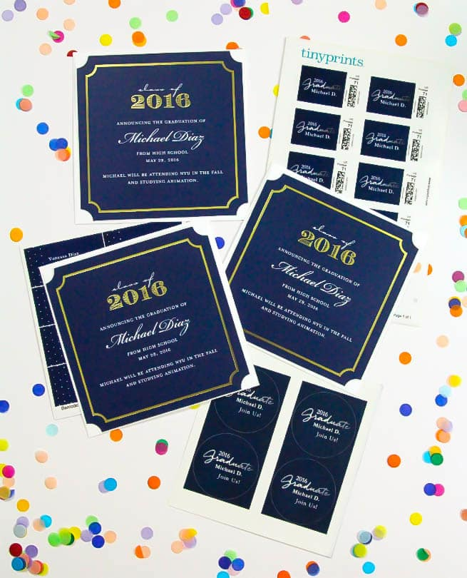our chic graduation announcement cards brite and bubbly