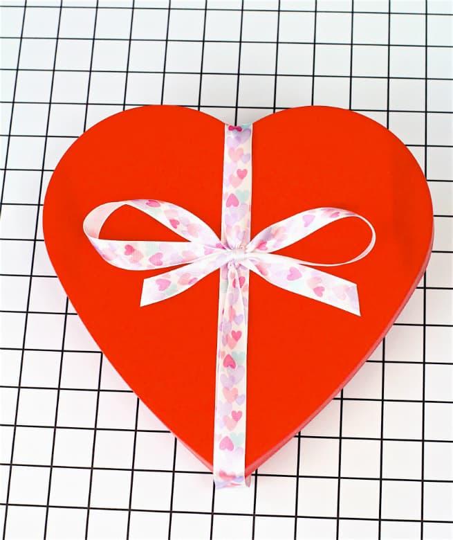 Valentine's Day Gal Pal Gift Idea Heart Box