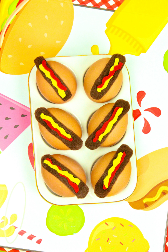 Cute DIY Hotdog Easter Eggs