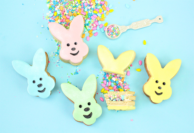 DIY Easter Bunny Piñata Cookie