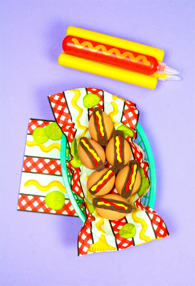 DIY Hotdog Easter Eggs